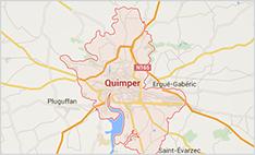 Carte Quimper Et Alentours.Les Communes De La Communaute D Agglomeration De Quimper